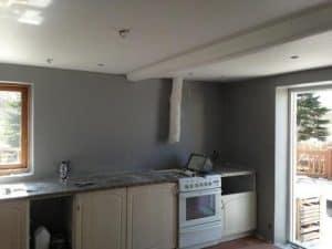 maling af køkken i hus