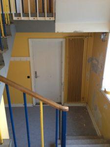 Maling af trappe før
