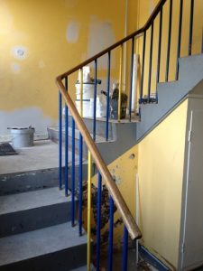 Maling af trappeopgang