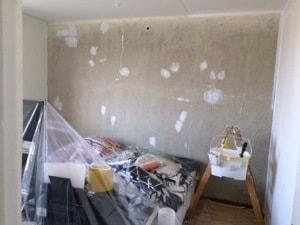tapetseret soveværelse før